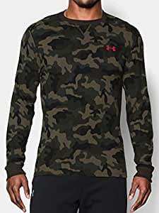 Under Armour Amplify Camo Thermal Crew - Men's Rough / Red / Black Small