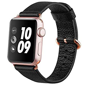 Benuo Apple Watch Series 3 Band Premium Genuine Leather Strap for Series 3/2/1