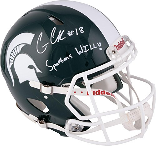 Connor-Cook-Michigan-State-Spartans-Autographed-Speed-Pro-Line-Helmet-with-Spartans-Will-Inscription-Fanatics-Authentic-Certified