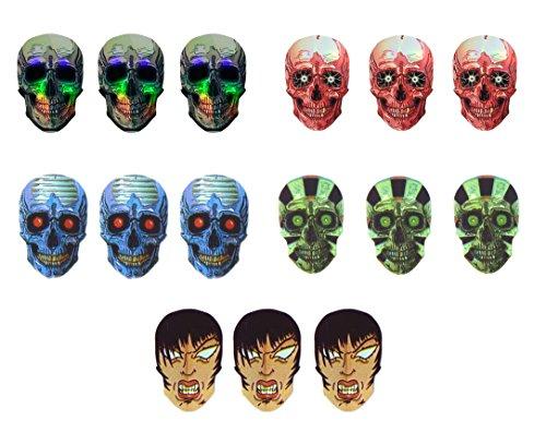 4 sets (12 pieces) of Holographic Skulls Dart Flights - Assorted (4 Sets Dart Flights)