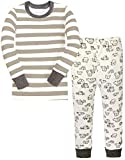 Children Pajamas Striped Cotton Clothing For Boys Set Size 6 -  6 Years, Grey