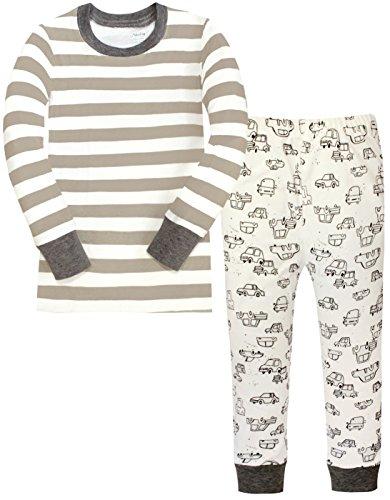 Children Pajamas Striped Cotton Clothing For Boys Set Size 3Y, Grey