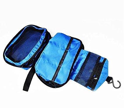 Small Sponge Bag. Hanging Travel Toiletry Wash Bag Blue