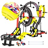 Peradix RC Slot Car Double Rail Race Car DIY Assembly Toy Playset 3D Racing Track 151PCs 960cm with 2 Cars+2 Remote Controller for Kids Age 6+