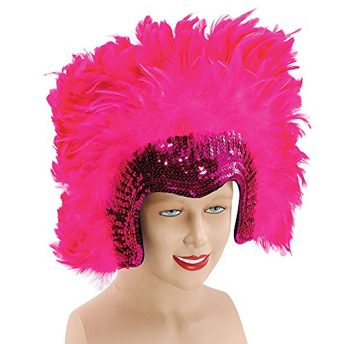 Bristol Novelty BA816 Deluxe Feather Headdress, Pink, One -