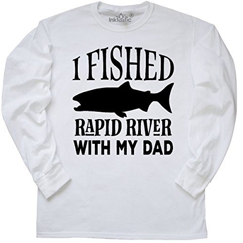 inktastic - Fishing Rapid River Maine Long Sleeve T-Shirt Small White (Maine Womens Long Sleeve)