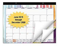Desk Calendar 2019-2020: Large Monthly P...
