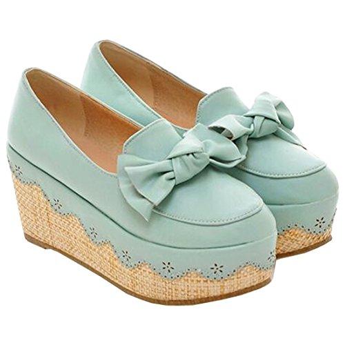 Platform Partiss Lolita Herbst Damen High Schuhen Shoes Sweet Pumps Pumps Casual Fruehling Wedge top Anime Lolita Cosplay Hellblau Diestmaedchen Lolita fSZA4