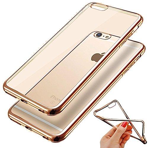 VSHOP ® Coque iPhone 6S, Coque iPhone 6 Coque iPhone 6S housse Anti-Chocs Arrière Claire Coque Bumper Anti-Rayures pour iPhone 6S/6- OR DORE