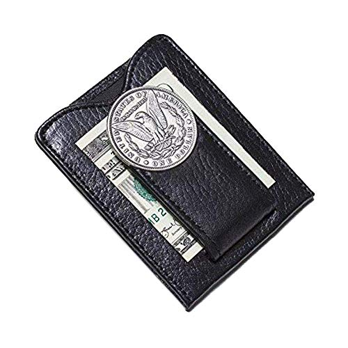 Tokens & Icons Men's 1800's Morgan Silver Dollar Money Clip Wallet ()