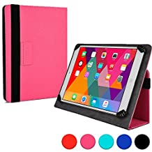 Kobo Arc 10 HD folio case, COOPER INFINITE UNIVERSAL Business School Travel Carrying Portfolio Case Protective Cover Folio with Built-in Stand for Kobo Arc 10 HD (Pink)