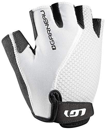 Louis Garneau Women's Air Gel + Padded, Breathable, Shock Absorbing, Half Finger Bike Gloves, White, ()