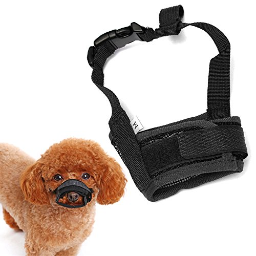 Bluecookies Mesh Dog Muzzle Breathable Adjustable for Biting Chewing Barking