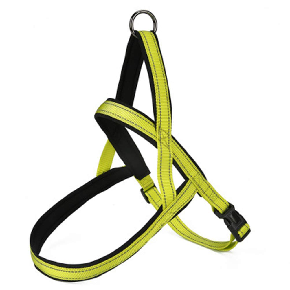 GREEN NKDK Pet Leash Rope Dog Straps Pet Chest Straps Large Medium and Small Dogs Explosion-Proof Punch Dog Chest Back Stretchable Dog (color   Green)
