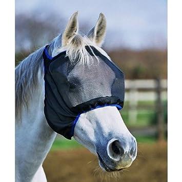Equilibrium Field Relief Midi – Máscara para caballo (sin orejas volar máscara negro tamaño mediano