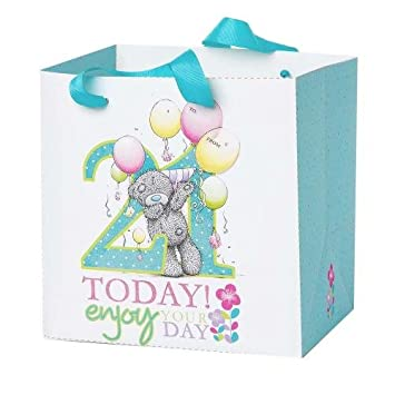 Medium 21st Birthday Me To You Bear Gift Bag Amazoncouk Toys Games