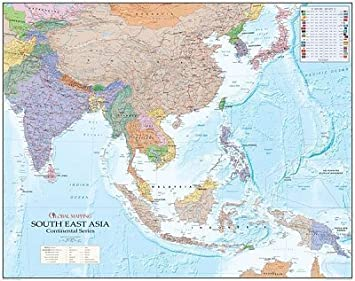 Sudostasien Landkarte Mit China Amazon De Burobedarf Schreibwaren