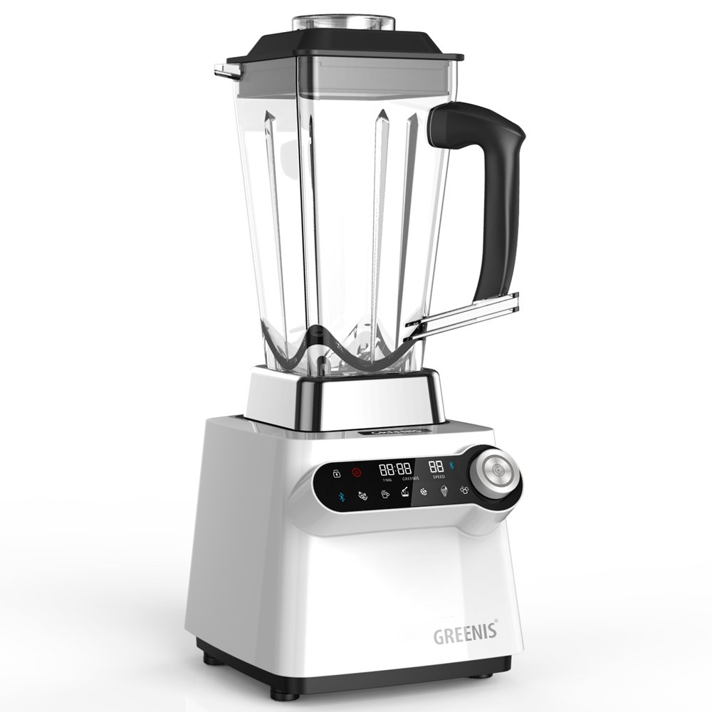 GREENIS Heavy Duty Blender, Amazon Exclusive, 70 OZ Tritan Jar, 3.7 Horsepower,Tamper Tool Included, App Connectivity, Ivory White/Graphite Gray