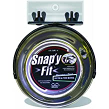 MidWwest Homes for Pets Snap'y Fit Stainless Steel Food Bowl / Pet Bowl, 1 qt. for Dogs & Cats