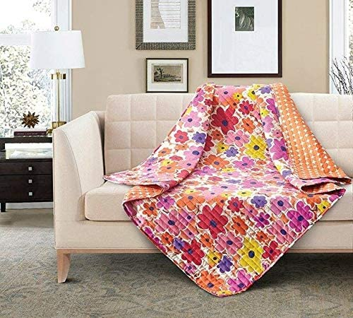 Virah Bella Finlandia Bright Color Flower Quilt Throw Blanket