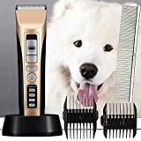 Professional Heavy Duty Pet Grooming Clippers, Pet Grooming Kit for Thick Hair Dogs