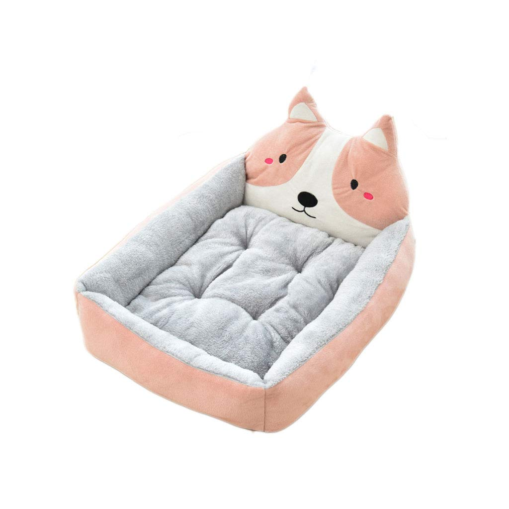 B 50cm B 50cm Pet Dog Mattress Animal Pet Kennel Sofa Winter Warm Cat Dog House Dog Cover Pad Big Basket Dog Mattress (color   B, Size   50cm)