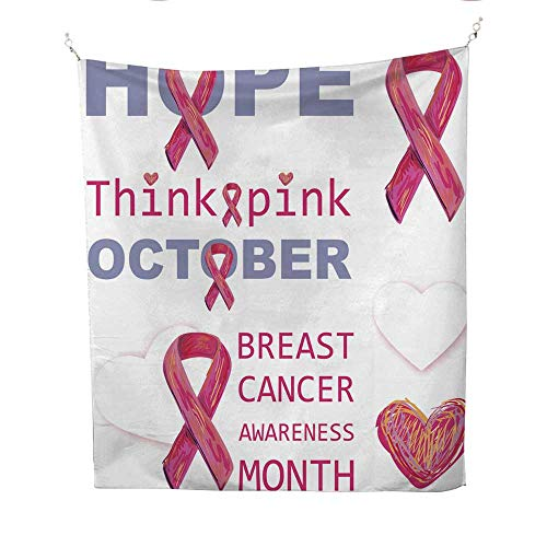 25 Home Decor Mandela Tapestries Breast Cancer Awareness Month Gray Tapestries 51W x 60L INCH -