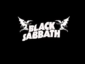 Black Sabbath Decal Sticker, H 5 by L 9 Inches, White, Black, Yellow, Silver, or Blue