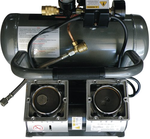 California Air Tools CAT-1650A Ultra Quiet and Oil-Free 1/2 Hp 1.6-Gallon Aluminum Tank Air Compressor