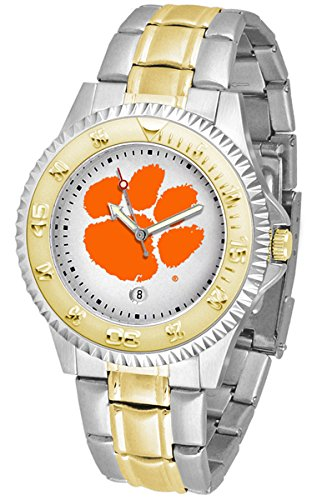 (Clemson Tigers Competitor Two-Tone Men's Watch)
