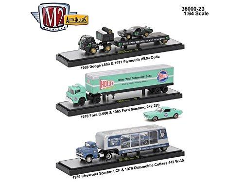 426 Hemi Cuda (Auto Haulers Release 23, 3 Trucks Set 1/64 by M2 Machines 36000-23)