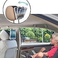 TFY Universal Car Headrest Mount Holder with Angle- Adjustable Holding Clamp for Tablets - iPad 2 / 3 / 4 - iPad Mini - iPad Air - iPad Pro - Samsung Galaxy Tab S2 - Tab A and More