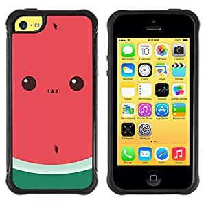 SHIMIN CAO@ Funny Watermelon Cute Drawing Eyes Rugged Hybrid Armor Slim Protection Case Cover Shell For iphone 5C CASE Cover ,iphone 5C case,iphone5C cover ,Cases for iphone 5C