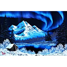 Bob Ross Northern Lights Art Print Poster 12x18