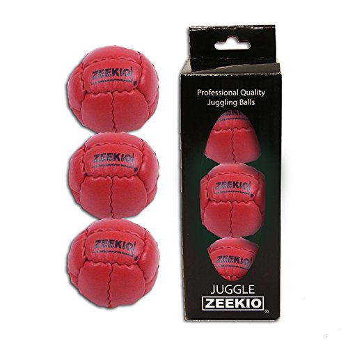 Zeekio Galaxy Juggling Ball Gift Set- 3 Galaxy Juggling Balls-RED