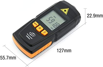 NOBGP Tacómetro Digital, Herramienta de medición del medidor de ...