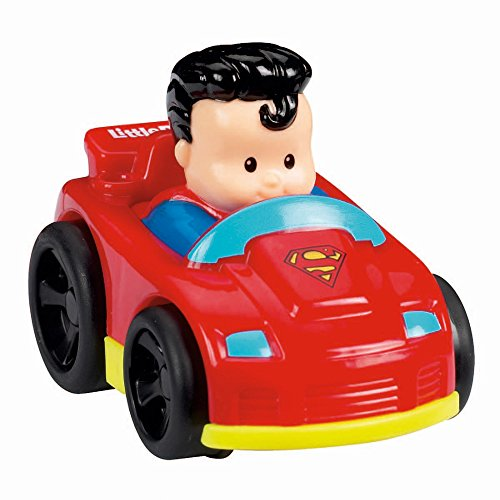 (Fisher-Price Little People DC Super Friends Wheelies 6 Vehicles Gift Set)