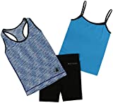 Body Glove Big Girl's 3 Piece Athletic Tank Tops and Shorts Sets