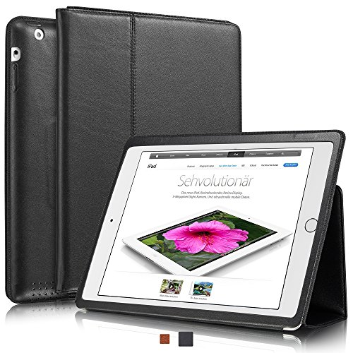 """KAVAJ Leather iPad 2/3/4 Case Cover """"Berlin"""" for Apple iP..."""