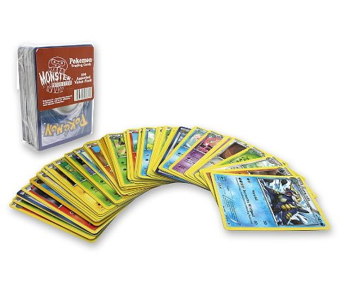 Monster Protectors Pokemon Trading Cards, Value Pack 100 Assorted