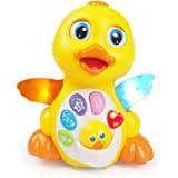 Luke4deals Musical Duck - Waddles/Rolls Around Toy with lights action music and sounds - Toys for girls and boys kids or toddlers