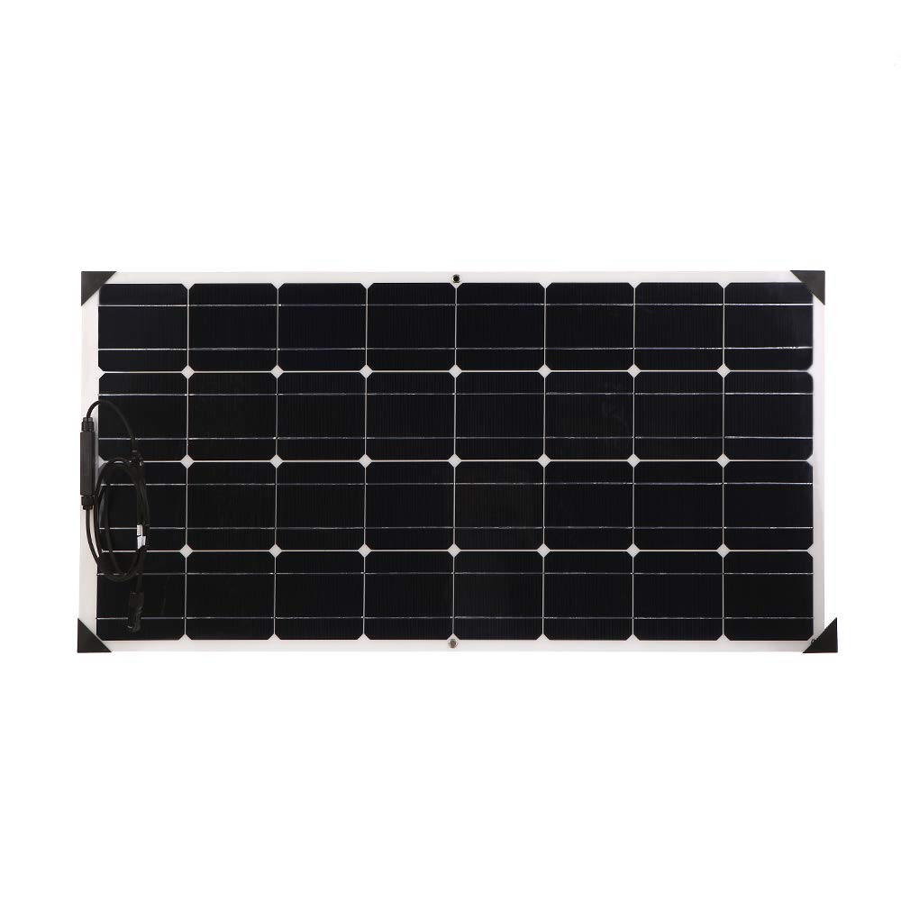 Boat//Yacht Camper Giosolar 2pcs 100W 12V Flexible Solar Panel High Efficiency Monocrystalline Solar PV Panel Motorhome Caravan