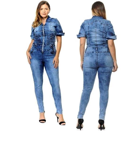 Amazon.com: M.Michel Pantalón de mujer de talla grande, con ...