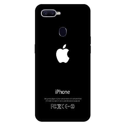 wholesale dealer b1b62 3447a Artage Polycarbonate/Plastic Printed Apple Logo Back Cover for Oppo F9 Pro  (Black)
