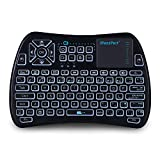 iPazzPort Backlit Wireless Mini Keyboard USB with Touchpad for Android TV Box, Nvidia Shield TV, Raspberry Pi 3 KP-810-21SL