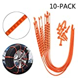 zip ties for car tires - BaiFM Portable Emergency Traction Aid Anti-slip Chain Vehicle Snow Chains Ice & Snow Traction Cleats for Bad Weather