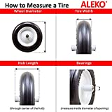 ALEKO WBNF13 Anti Flat Ribbed Replacement Wheel for Wheelbarrow 13 Inches No Flat Tire Black