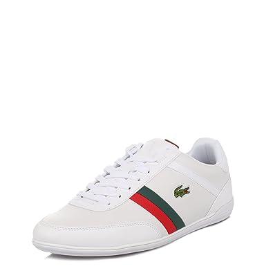 1e6433b57ca3 Lacoste Hommes Blanc Giron PRI Cuir Baskets: Amazon.fr: Chaussures ...