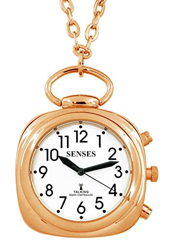 ATOMIC Talking Watch! - Sets Itself SENSES Women Beautiful Rose-Gold tone Talking Pendant (SRTKP61-2)