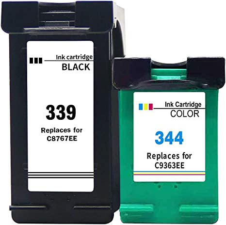 Ksera Remanufacturado HP 339 344 Cartucho de Tinta, HP 339 HP344 ...